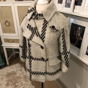 Plaid Wool-like Coat